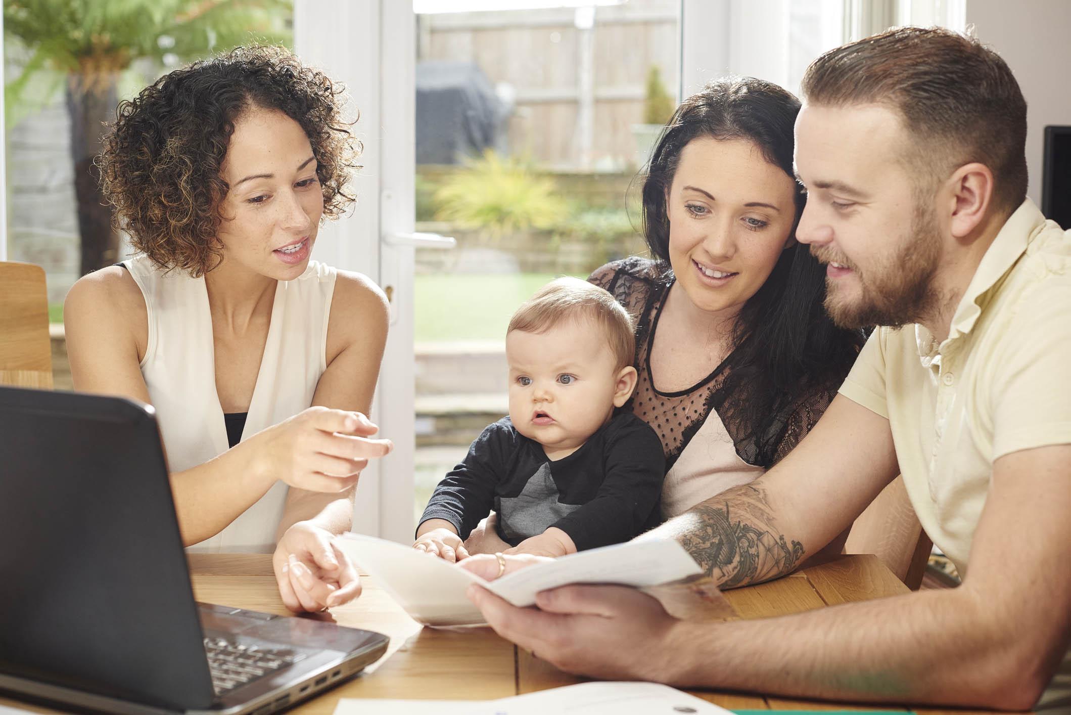 mortgage advisor explaining the small print.